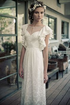 Chic and Glamour Vintage Wedding Dresses by Erez Ovadia 'Charlotte' gown