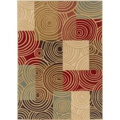 Tayse Rugs, Laguna Multi 7 ft. 6 in. x 9 ft. 10 in. Contemporary Area Rug, 4530 Multi 8x10 at The Home Depot - Mobile