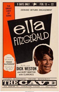1968 february 13-22. Vancouver, Ella Fitzgerald