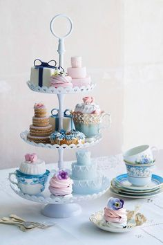 Beautiful vintage tea party setting