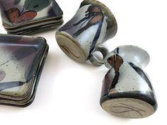 Vtg John Freimarck Studio Pottery 10pc Lot Signed Stamped Tenmoku Stoneware  | eBay