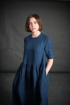 New in from Merchant and Mills is their latest sewing pattern The Ellis & Hattie, a two in one pattern, shown here is the more feminine Ellis, available now from our online store... www.drapersdaughter.com #sewing #dressmaking #merchantandmills
