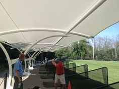Shade Canopy Golf Driving Range 10