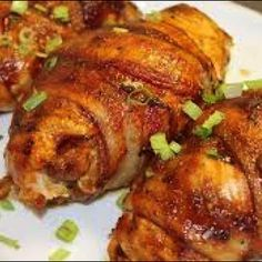 140841_2 Cream Cheese Stuffed Jalapenos, Cream Cheese Chicken, Bacon Wrapped Chicken, Chicken Bacon, Stuffed Chicken, Boneless Chicken, Specialty Meats, Diet Recipes, Cooking Recipes