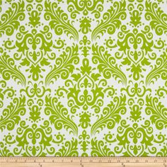 Designed by RBD Designers for Riley Blake, this cotton print is perfect for quilting, apparel and home decor accents.  Colors include white and lime.