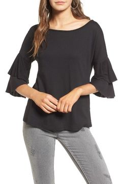 Free shipping and returns on Ten Sixty Sherman Ruffle Sleeve Tee at Nordstrom.com. Bid farewell to your basic white tee and opt instead for this ruffle-sleeved version that's every bit as comfortable and even more playful.