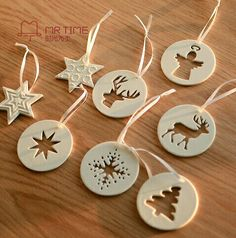 Salt dough negative space ornaments