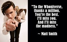 """This was tweeted by Matt after """"The Time of the Doctor"""" aired 12/25/2013"""