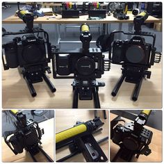 New Camera Cages for Black Magic Pocket Cinema Camera, Panasonic GH4, and the Sony a7S!