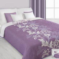 Obojstranný fialovo - biely prehoz na posteľ s ornamentom - My site Dressy Dresses, Cool Beds, Bed Sheets, Bedroom Decor, Cool Stuff, Elegant, House, Furniture, Home Decor