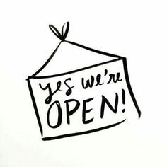 Open for Business! We're Open for Business! — The Lovely ForestWe're Open for Business! — The Lovely Forest Open For Business Sign, Small Business Quotes, Business Signs, Business Stamps, Business Stickers, Business Marketing, Business Ideas, Media Marketing, Citations Shopping