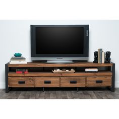 FREE SHIPPING! Shop Joss & Main for your Ellis Media Console. Transitional design and environmental friendly materials are perfectly combined in the Kosas Home Gael Reclaimed Pine and Iron Mahogany 4 Drawer Plasma Stand.