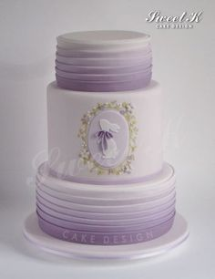 Lavender Easter cake - by Karla (Sweet K) @ CakesDecor.com - cake decorating website
