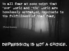 If depression was a choice, no one would choose it.  People choose to be assholes, not to have depression.
