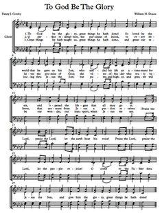 Free Choir Sheet Music For To God Be The Glory. Gospel Song Lyrics, Christian Song Lyrics, Gospel Music, Music Lyrics, Christian Quotes, Music Songs, Lyric Art, Lyric Quotes, Art Music