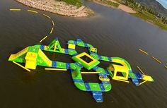 What better way to cool down this summer than by trying out a giant floating water park at Jordanelle Reservoir?