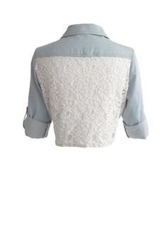dELiAs > Lace Back Chambray Tie Shirt