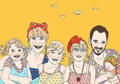 Custom BIG family portrait by Demofia on Etsy, $150.00