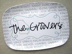 Personalized Melamine Platter - Georgia Love!