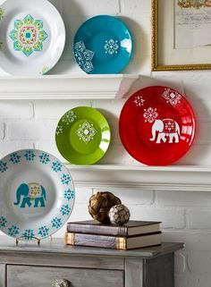 DIY Handmade Charlotte Decorative Bohemian Elephant Plates are an easy way to update your space.