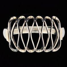Erik Granit Sterling Silver Mid Century Modernist Bracelet Finland #EGranitHandmade