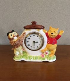 Vintage Ceramic Winnie-the-Pooh Alarm Clock- Disney Pooh and Owl Ceramic Alarm Clock by MagicalNostalgia on Etsy Mickey Mouse Watch, Wise Owl, Pooh Bear, Disney Winnie The Pooh, S Shirt, Vintage Ceramic, Alarm Clock, Walt Disney, Ceramics