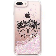 FLOWER CUTE OWL - iPhone 7 Plus Liquid Glitter Case And Cover