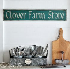 Learn to make a rustic painted sign, fitting for any farmhouse kitchen!