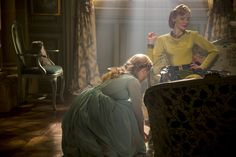"""""""Cinderella"""" (2015)  Lily James, Cate Blanchett Costume design by Sandy Powell"""