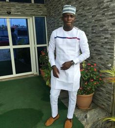 Men 39 S African Wear White With Gray Embroidery By Successexy African Trade Pinterest