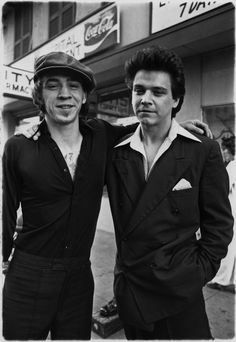 Stevie Ray and Jimmie Vaughan, 1978.  Photo by Ken Hoge.