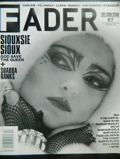 Siouxsie Sioux covers Fader Magazine's Icon Issue, June 2010.