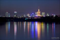 Warsaw by night, Poland City Lights At Night, Night City, Largest Countries, Countries Of The World, Warsaw Poland, Baltic Sea, Central Europe, Lithuania, After Dark