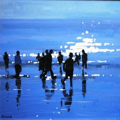 Beach Scenes by John Morris Irish Artist