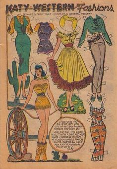 cowgirl outfits - would be cute framed in my dressing room