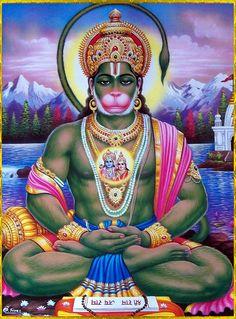 Unusual painting of Hanumanji Hanuman Photos, Hanuman Images, Shiva Art, Shiva Shakti, Krishna Art, Om Namah Shivaya, Hanuman Ji Wallpapers, Hanuman Chalisa, Lord Murugan