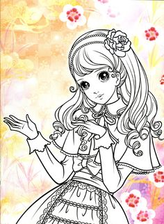 Korean Coloring Book - pink2 - Mama Mia - Picasa Web Albums