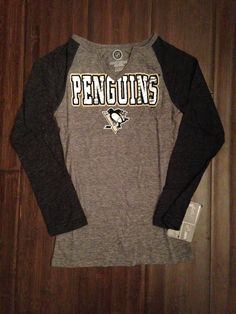 27226a85270 NHL Pittsburgh Penguins Girls V-Neck Long Sleeve T-Shirt