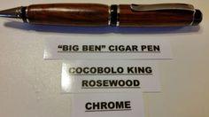 Cocobolo-King-Rosewood-Big-Ben-Cigar-Pen-Chrome-Finish-Standard-Cut-Design