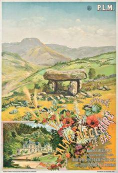 PLM - Saint-Nectaire le Bas - Auvergne - vers 1900 - illustration de H. de Tanconville -