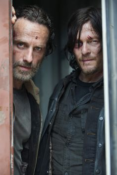 Andrew Lincoln as Rick Grimes and Norman Reedus as Daryl Dixon - The Walking Dead _