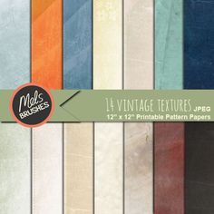 Vintage Textured Scrapbook Papers - for invitations, card making and more.