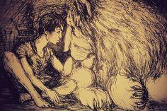 #inkdrawing #ink #drawing #sketch #lion #boy #art