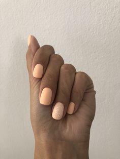 #manicure #peach #nails #sugareffect #perfect #mattenails