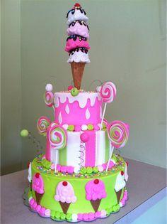 Children 3 Tier Birthday Cake/ Edible Art Of Charlotte, NC