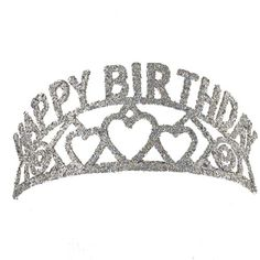 With a fun heart design this gorgeous tiara is the perfect addition to her fabulous birthday party. Lightweight and comfortable, it makes a wonderful gift. Happy Birthday Hearts, Happy Birthday Girls, 90th Birthday Parties, Fabulous Birthday, 22nd Birthday, Birthday Party Favors, Birthday Ideas, Its Almost My Birthday, Birthday Tiara