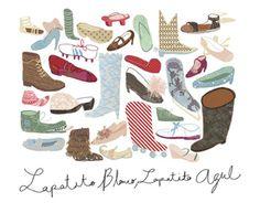 Zapatitos de papel.  http://www.silvana-avila.com/2013/03/zapatitos.html