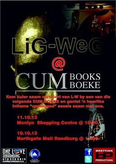 Catch @LiG_WeG at @CUM Books Northgate on 19 October between 11 and 12!
