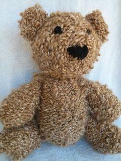 Anne the Hand Knit Teddy Bear Knitted Bear by TwoSistersTeddyBear