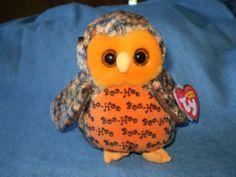 Ty Beanie Baby Boo Who? the Halloween Owl. Rare Beanie Boos, Ty Bears, Baby Stuffed Animals, Cute Beanies, Halloween Owl, Beanie Babies, Big Eyes, Girl Dolls, Owls